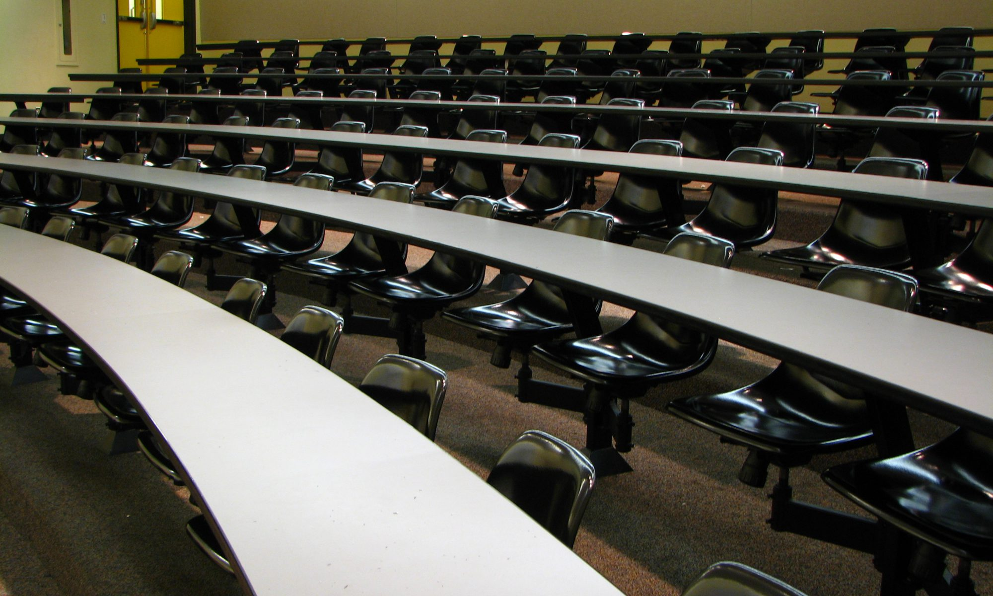 An empty lecture hall