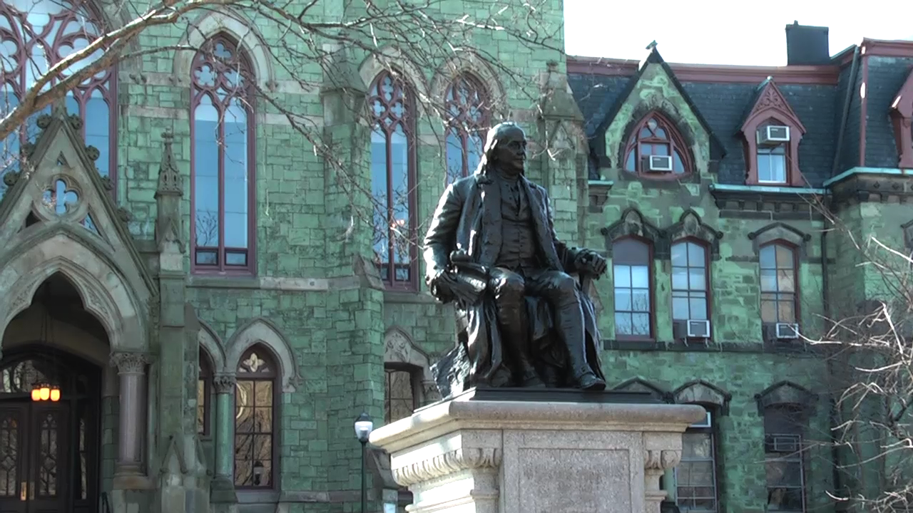 Statue of Benjamin Franklin at the University of Pennsylvania
