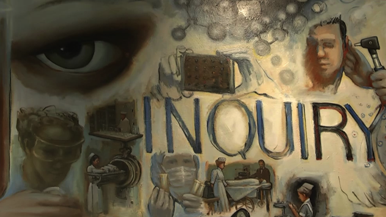 Painting Featuring the Word Inquiry