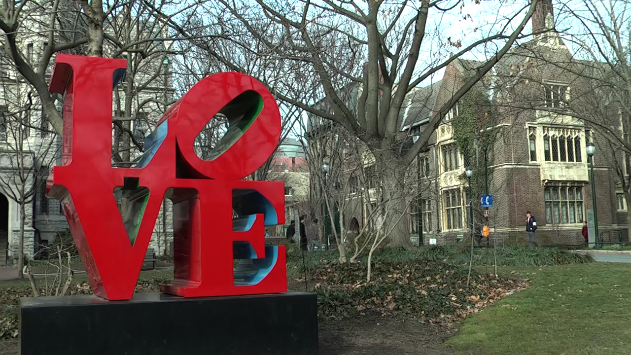 The Love Sign at University of Pennsylvania