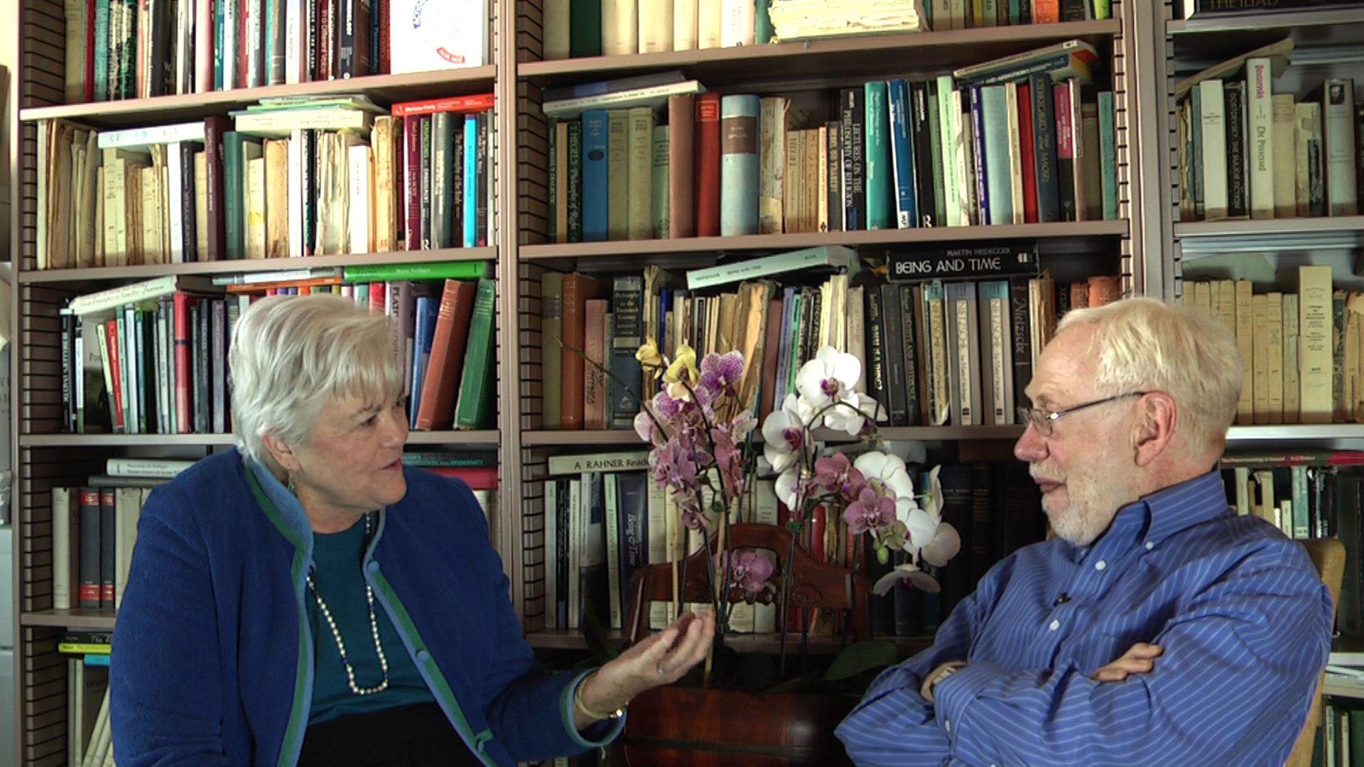 Bert Dreyfus and Patricia Benner in discussion